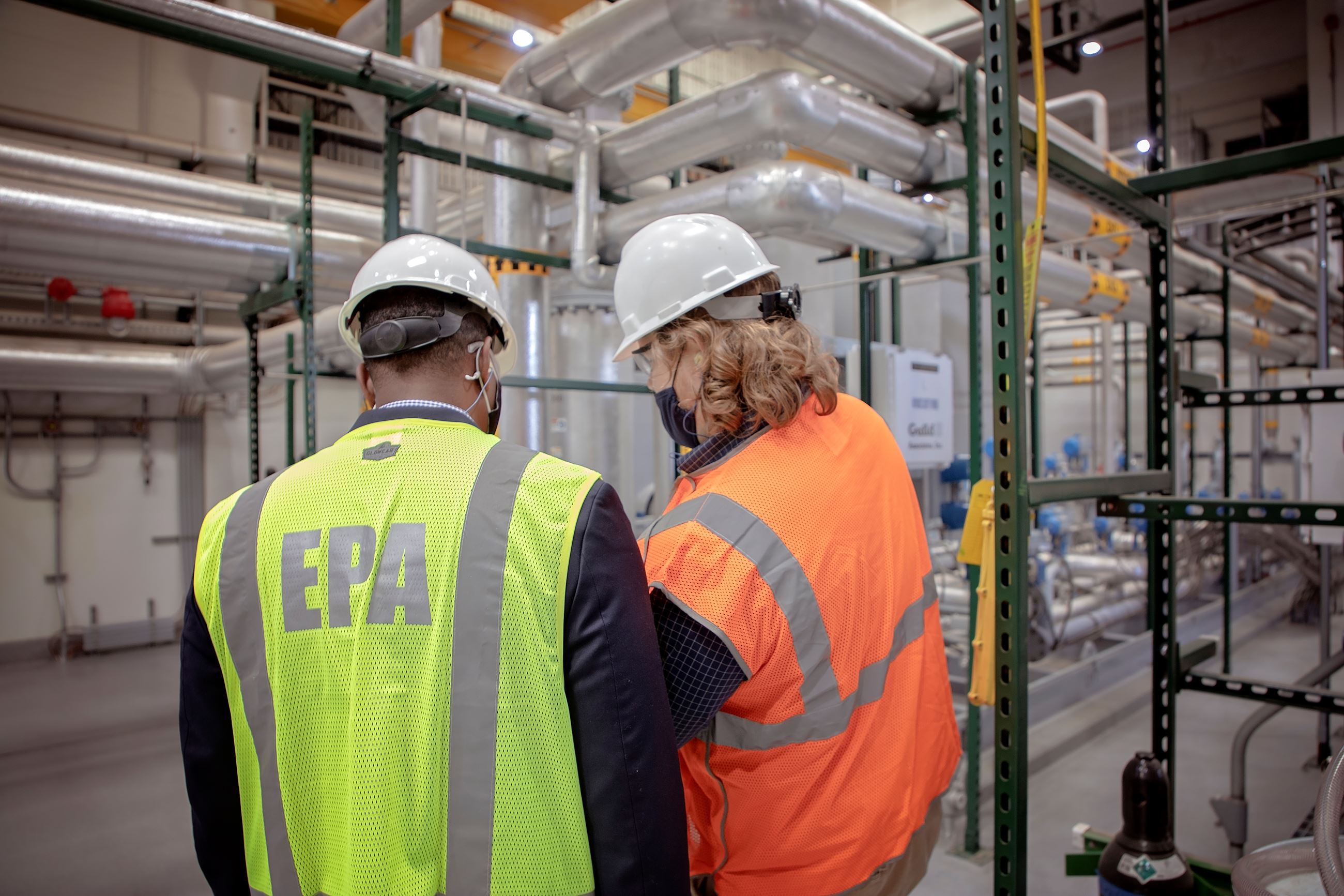 EPA Administrator Tours Biogas Processing Building at Wastewater Reclamation Authority